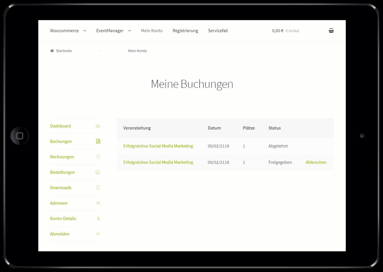 Self-Service-Portal für Events