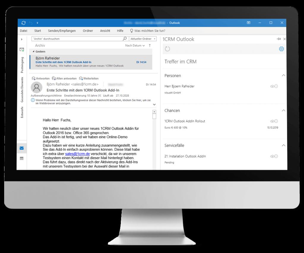 Outlook und CRM synchronisieren