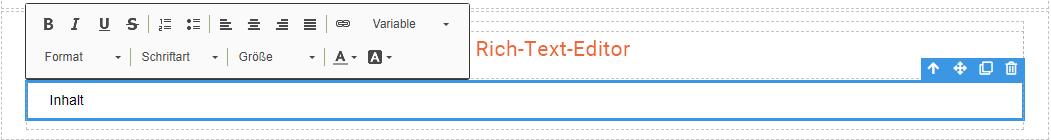 1CRM: Rich-Text-Editor im MailDesigner