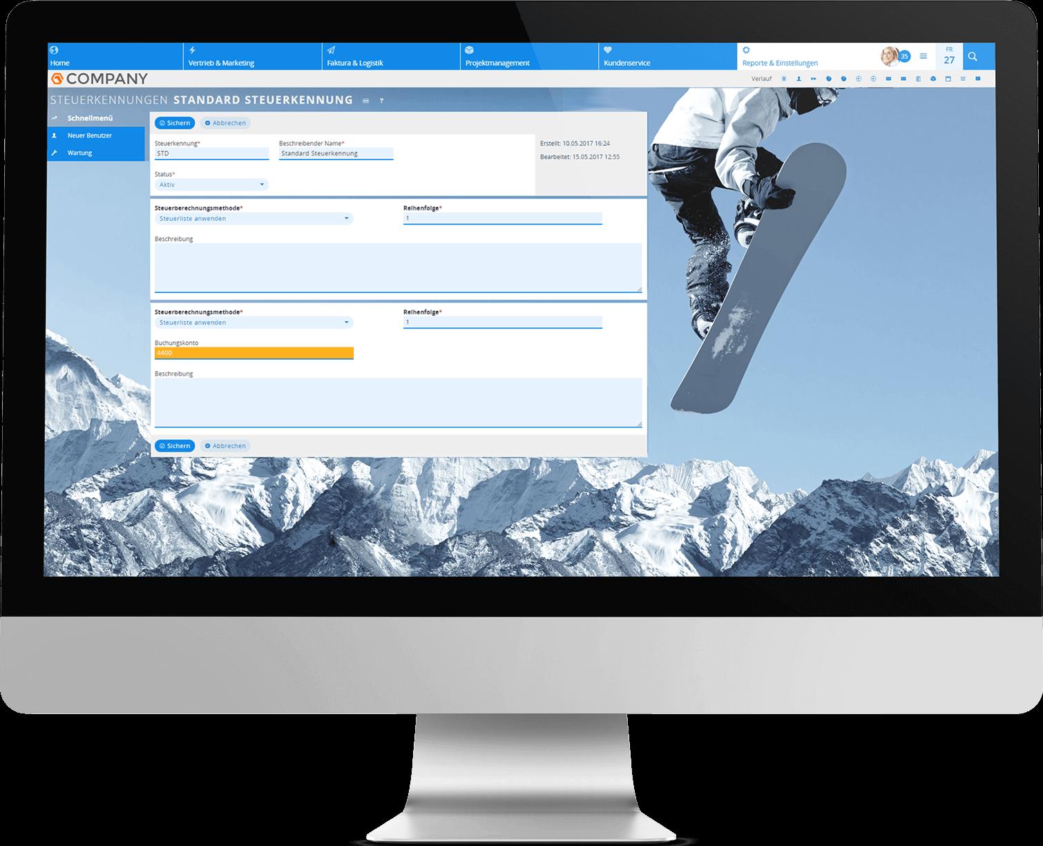 Buchungskonten im CRM mit Datev verwalten