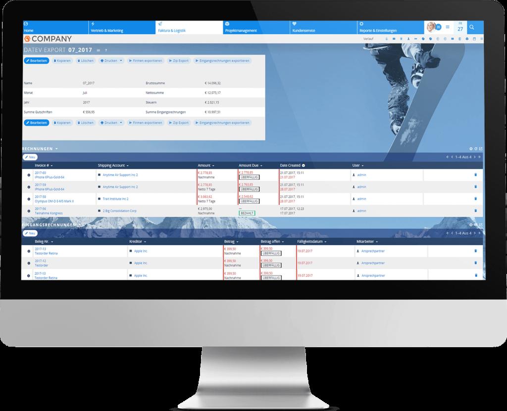 Datev-Export mit dem CRM-System