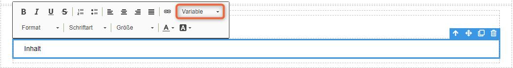 1CRM: Variablen im MailDesigner nutzen