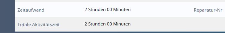 1CRM: Gebuchte Stunden Servicefall