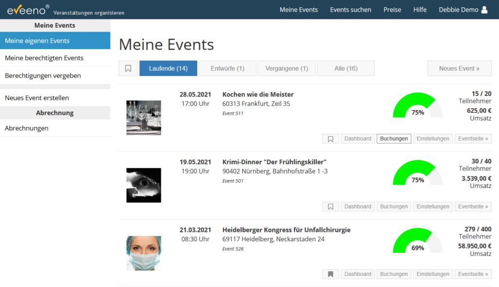 Event-Software eveeno