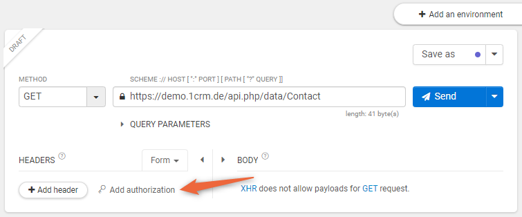 REST-API-Zugrff authorisieren
