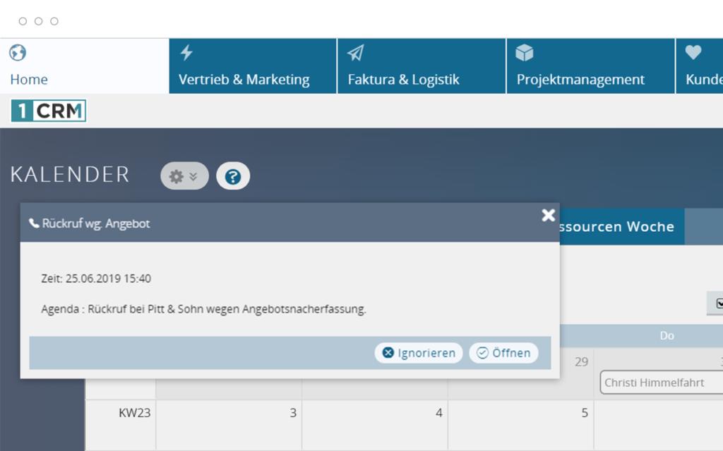 Terminkalender Kundenverwaltung